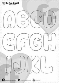 Molde de Letras Felt Name Banner, Name Banners, Alphabet Templates, Blue Nose Friends, Alphabet Coloring Pages, Alphabet And Numbers, Paper Dolls, Diy And Crafts, Sissi