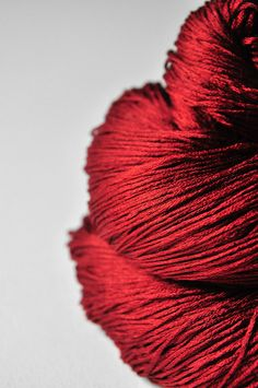 Blood Queen silk lace yarn. The depth of colour and lustre of the yarn is amazing!