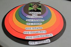 Delightful Learning . . . Me on the Map activity  my world down to my school