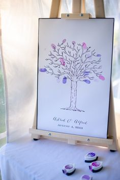 wedding chicks free printable tree guestbook idea #freeprintables #guestbookideas #weddingchicks http://www.weddingchicks.com/2014/01/28/creative-canuck-wedding/
