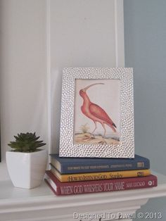 Styling a Mantel with Books