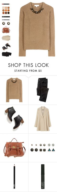 """""""la la land"""" by ouchm4rvel ❤ liked on Polyvore featuring Burberry, Wrap, Madewell, Warehouse, Wet Seal, NARS Cosmetics, GET LOST and MAC Cosmetics"""