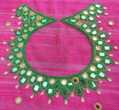 Cutwork Blouse Designs, Simple Blouse Designs, Kurti Neck Designs, Collar Kurti Design, Mirror Work Blouse Design, Hand Work Design, Banarsi Saree, Kutch Work, Maggam Works