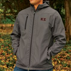 Campus Classics - Kappa Sig Charcoal Hooded All Weather Jacket: $68.95