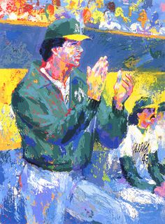 """""""Tony LaRussa - Manager of the Year"""" (1993) by LeRoy Neiman"""