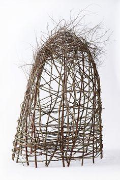 sit around and weave structures for my garden:  Twig Garden Structure - Anthropologie.com