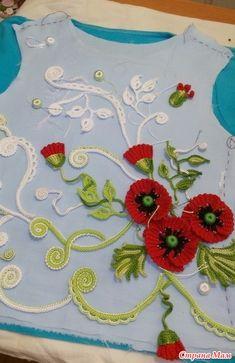 Crochet Motif, Knit Crochet, Irish Crochet, Irish Lace, Knit Fashion, Lace Flowers, Embroidery, Knitting, Crafts