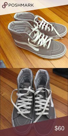 Vans Perfect condition Grey vans high tops! Vans Shoes Sneakers