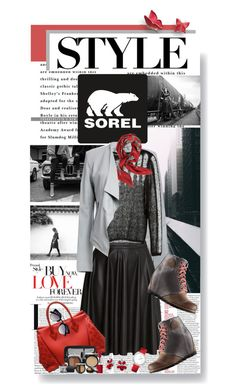 """The 1964 Premium Wedge from SOREL: Contest Entry"" by shortyluv718 ❤ liked on Polyvore featuring SOREL, BB Dakota, H&M, Yves Saint Laurent, Louis Vuitton, Clinique, Valentino, Mommy Makeup, Bling Jewelry and Fendi"