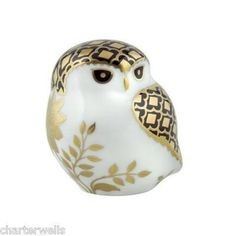 New Royal Crown Derby Aura Owl Bird Paperweight 1st Quality & Gift Boxed