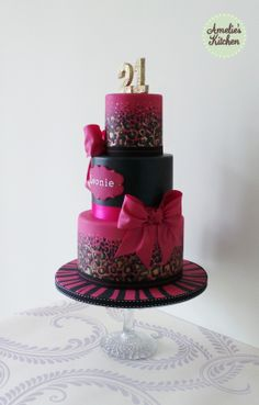 Birthday Cake Photos - (I used Raewyn's tutorial to create the leopard print, thank you Raewyn!) OK, how cool is this?! So cute!