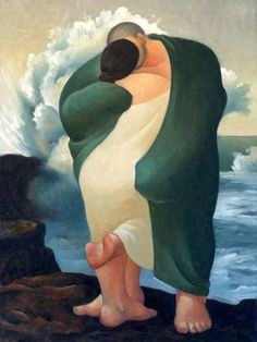 """#Artwork #painting """"Couple"""" by #artist Margarita Sikorskaia (born in 1968, in St. Petersburg) #contemporaryart"""