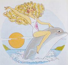 "1992 Little Golden Book ""Barbie The Big Splash"" Illustration | por sezzalicious"