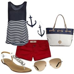 Anchor Outfit created by Brooke Johnson on Polyvore