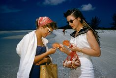 Shell hunters on Sanibel Island Florida 1959.