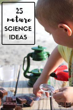 Outdoor Nature Science Activities for Kids. Practical outdoor science ideas for kids.