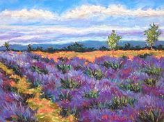 "Cascade Lavender Farm by Mary Jane Erard Pastel ~ 17"" x 14"""