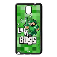 Minecraft Like A Boss Samsung Galaxy Note 3 case $16.50