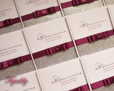 Glamour by www.tigerlily-creations.co.uk #wedding #invitations #glitter #glamour #sparkle