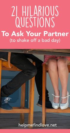 21 Funny Questions For Couples To Reset A Bad Day. These questions for couples are hilarious, honest, and will have you laughing. Great activity or date to feel more connected, in love and shake off any bad days. Marriage Relationship, Happy Marriage, Marriage Advice, Love And Marriage, Relationship Questions, Funny Questions, Intimate Questions, Before Wedding, After Life