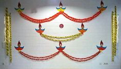 Discover some pretty interesting ways to do your pooja room decoration. Festive season calls for special decor; check out these pooja room decoration ideas. Diwali Decorations At Home, School Decorations, Festival Decorations, Flower Decorations, Wedding Decorations, Backdrop Decorations, Birthday Decorations, Diwali Pooja, Diwali Craft