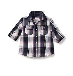 Toddler Boy Plaid Shirt
