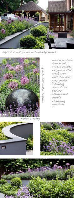 Granite ball water feature greencube garden and landscape design: