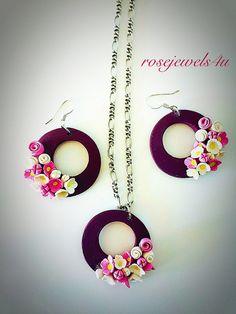 Polymer Clay Earrings handmade jewelry Round by rosejewels4u
