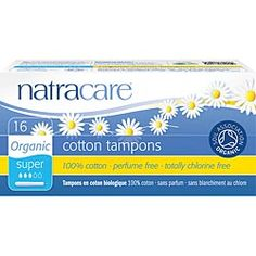 Natracare Organic Cotton Tampons with Applicator ~(16 Super)