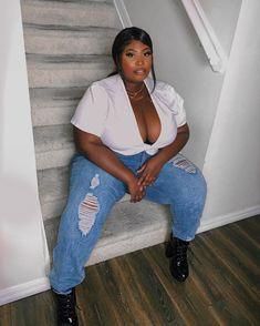Thick Girls Outfits, Curvy Girl Outfits, Plus Size Outfits, Cute Outfits, Curvy Women Fashion, Plus Size Fashion, Ssbbw, Sexy Black Art, Big Black