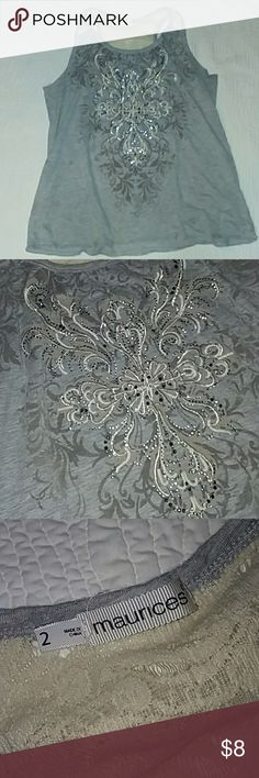 Maurices plus size Tank Yop Very cute. Swirls and rhinestones. Maurices Tops Tank Tops