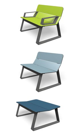 Wild colours, sexy shapes and a sleek touch of the material - that's miramondo's SUPERFLY chairs, benches and tables - stylish furniture for public space. Bench Designs, Street Furniture, Superfly, Benches, Industrial Design, Tables, Chairs, Public, Colours