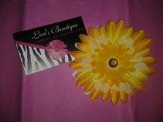 3in Sunny Yellow Gerber Daisy Head Band  You by LexisBowtiqueNmore, $5.00