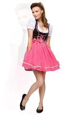 Stockerpoint Mini Dirndl 3tlg. Judy pink karo 50 cm