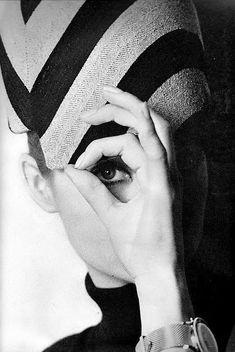 Jean Shrimpton photographed by David Bailey, 1963.