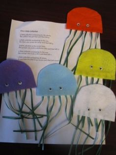 Under the Sea storytime Five Litle Jellyfish felt story board.