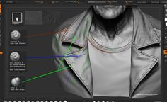 // Making of a real-time portrait by Glauco Longhi zbrush Making of a real-time portrait Zbrush Tutorial, 3d Tutorial, Photoshop Tutorial, Zbrush Character, Character Modeling, Sculpting Tutorials, Art Tutorials, Drawing Tutorials, Painting Tutorials
