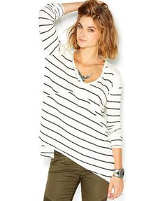 17f64e9d7ca63 Free People Sunset Park Long-Sleeve Striped Top & Reviews - Tops - Women -  Macy's