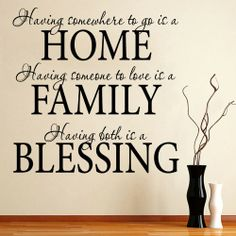 Image detail for -Home / Home Family Blessing - Wall Quotes - Wall Decals Stickers