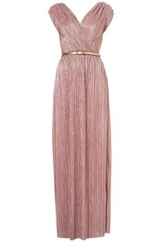 Topshop Pleated Grecian Maxi Dress By Oh My Love - Lyst Mismatched Bridesmaid Dresses, Prom Dresses, Formal Dresses, Wedding Dresses, Bridesmaids, Chiffon Dresses, Mauve Wedding, Mauve Dress, Fashion Outfits
