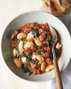 Make it in a Dutch Oven // Lamb and Bulgur Stew with White Beans Recipe