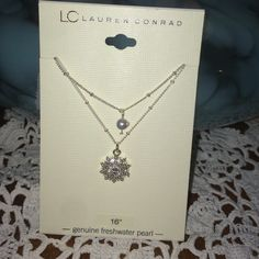 Genuine freshwater pearl LC Lauren Conrad necklace Genuine pearl LC Lauren Conrad 16' necklace BNWT ❌no trades LC Lauren Conrad Jewelry Necklaces