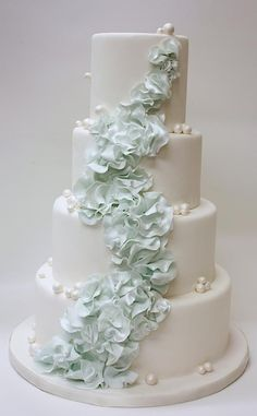42 Most pretty wedding cake ideas. http://www.modwedding.com/2014/02/02/40-dazzling-wedding-cakes-from-lulu-cake/ #wedding #weddings #cakes