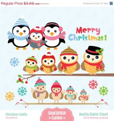 Christmas Family Digital Clipart