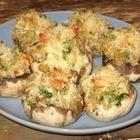 Champignons farcis au crabe
