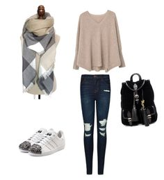 """""""Autumn in my heart"""" by cozywow-socks on Polyvore featuring J Brand, MANGO, adidas Originals and Yves Saint Laurent"""