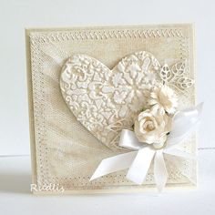 wedding card - stencil Memory Box by angela Wedding Day Cards, Wedding Cards Handmade, Wedding Anniversary Cards, Love Cards, Diy Cards, Shabby Chic Cards, Engagement Cards, Heart Cards, Card Making Inspiration