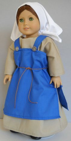 "Fits 18"" American Girl doll Viking folk dress clothes D (COSTUME ONLY)"