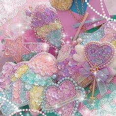 Beautiful beaded candy dreamland pieces by @hamarin115 mon bijou ✨✨✨
