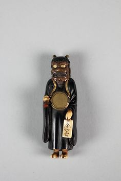 Netsuke of Demon, late 18th century. Japan. The Metropolitan Museum of Art, New York. Gift of Mrs. Russell Sage, 1910 (10.211.790) #halloween